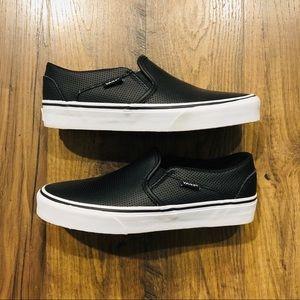 Vans Leather Slip-on Sneakers